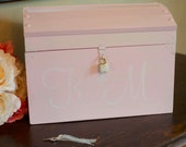Bride and Groom Card Box with a Lock and Key by Burlap and Linen Co