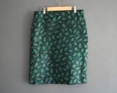 1950s Satin Pencil Skirt