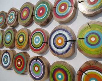 Tree Ring Wall Art - Eco Friendly Wall Art - Made from Reclaimed Barn Beams Great for Office Wall Decor  (18TRWA2)