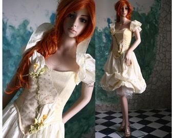 Alternative corset wedding gown - Golden Calla