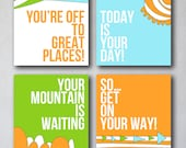 You're off to Great Places | Wall Art Collection | Canvas Art Decor | Typography Quote Print | As seen Project Nursery