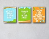 Steer Yourself Any Direction You Choose | Wall Art Collection | Canvas Art Decor | Typography Quote Print | As seen Project Nursery