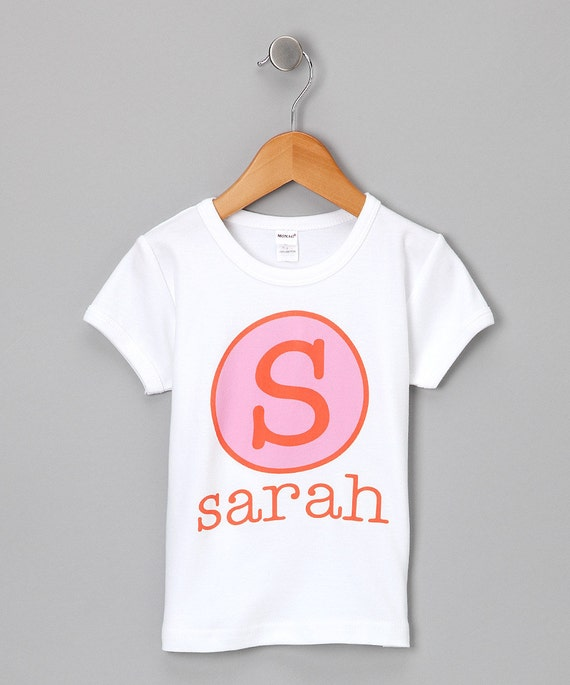 Personalized Gift Name Initial or Birthday Number T Shirt Girls Boys Tee Baby Onesie High Quality Shirt