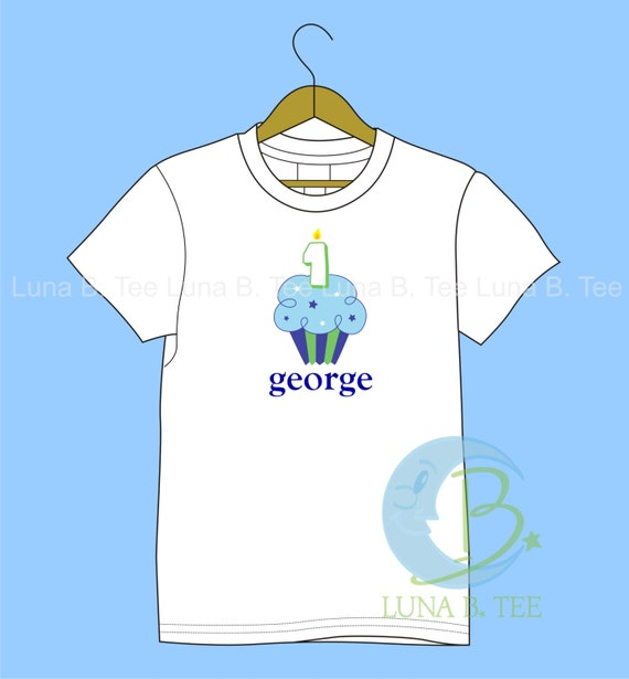 Birthday Cupcake T Shirt Girls Boys Tee Personalized  Baby Onesie High Quality Shirt - SHORT SLEEVE