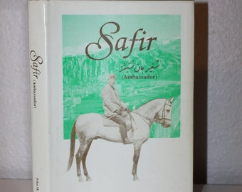 Sale 20% Off, Safir by John M. Steeves 1991 First Edition, Signed Book, Green Book, Ambassador to Afghanistan