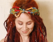 Boho headband Gypsy headband Dreadlocks headband Red headband woman Gypsy hair Hippie headband Festival headband Bohemian hair