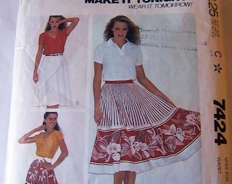 McCalls 7424 size 12 circular, flared, bias womans skirt