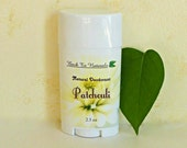 Patchouli Deodorant -  Organic Deodorant Tube with Neem and Tea Tree - Homemade Deodorant Stick with Patchouli or Choose Your Scent.