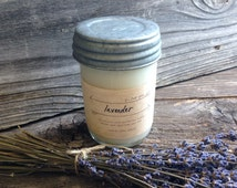 Lavender Soy Candle Premium Soy Container Candle Lavender Scented Mason Jar Soy Candle