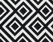 Black White Geometric Upholstery Fabric - Heavyweight Woven Textiles for Furniture - Geometric Home Decor - Black White Pillow Covers Online