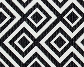 Black White Geometric Upholstery Fabric - Fabrics On Sale