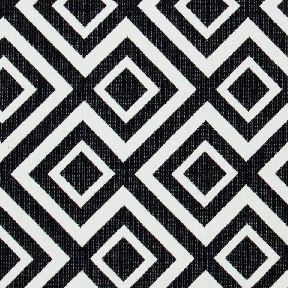 Black white geometric upholstery fabric heavyweight woven for Black fabric