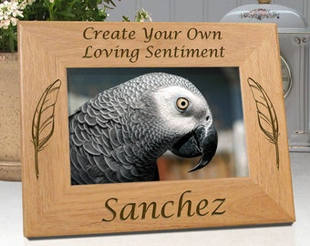 Bird Picture Frame - Create Your Own Sentimental Saying - Personalized with Name & Date - Free Sympathy Card