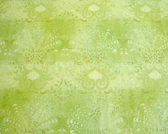 Dramatic decorative green fabric, quilting cotton fabric, green cotton fabric