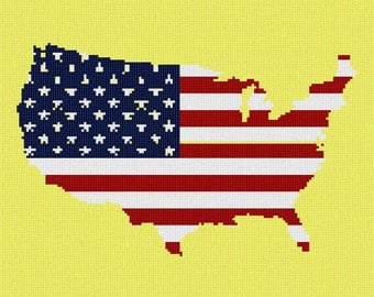 Needlepoint Kit or Canvas: America Stars And Stripes