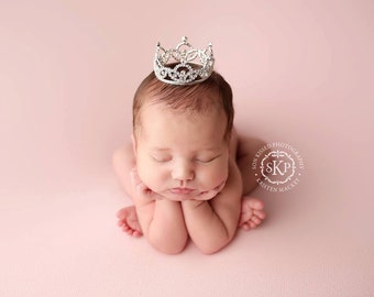 Newborn Crown, newborn photo prop, Photo Prop | Tiara - Jocette, crystal crown, princess crown, photography prop