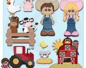2015 Farm Living Clip art  Clipart Graphics  Commercial Use