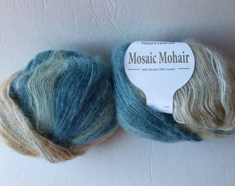 Yarn Sale  - Blue and Browns  31293 Mosaic Mohair by Filatura Lanarota