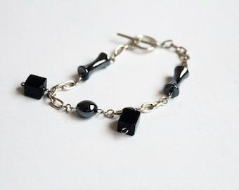 Charm Bracelet - Black and Silver