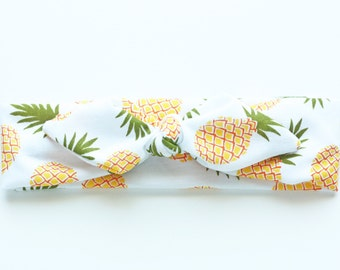 Pineapples Top Knot Headband - Baby to Adult