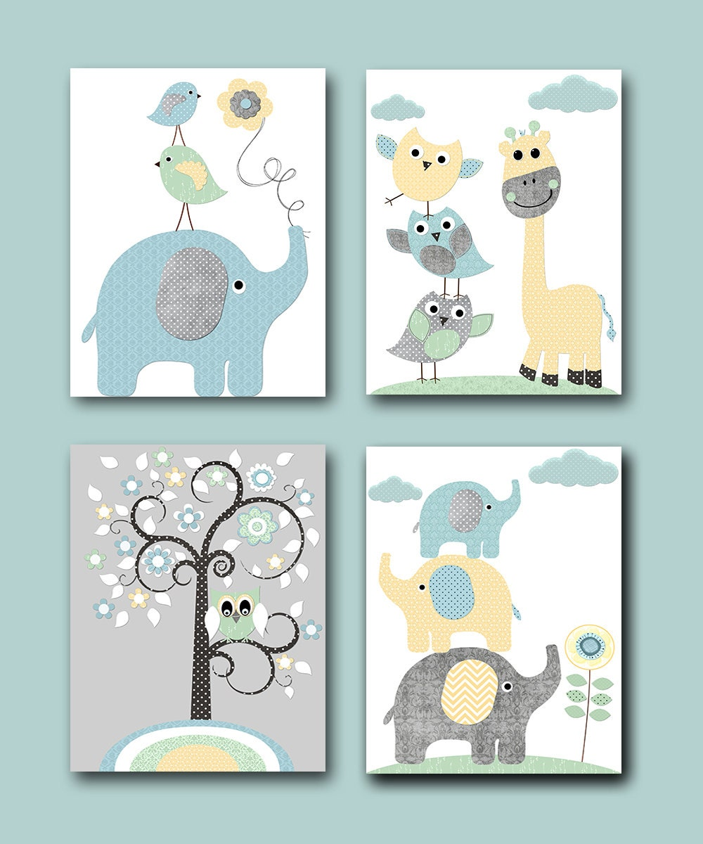 Baby boy nursery prints kids art for children kids wall art for Boys wall art