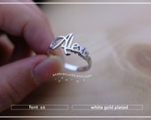 10% off // Font 10// Personalized name ring- Any name- Any size- Any colors - Gift box included.X'mas- bridesmaid- Valentine gift.