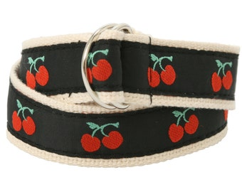 Bean Belts Girls Cherry Belt- For Babies, Toddlers & Kids - Fully Adjustable