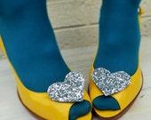 Glitter Heart Shoe Clips (more options)