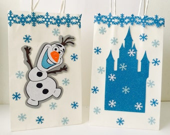 FROZEN goodie bag / Frozen gift bag / Christmas bag / Christmas party / Disney princess