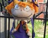 Angelica Mini Plush Backpack Rugrats 90s