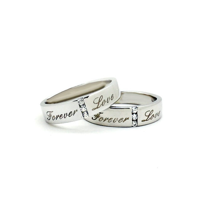 personalized matching promise rings couples by onlyuniquegifts