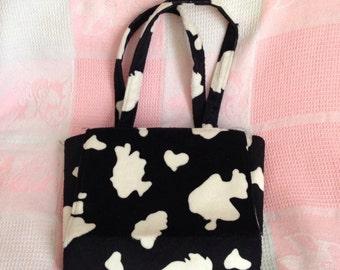 Vintage 90s faux cow print purse