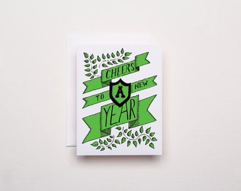 Cheers to a New Year - Letterpress Card