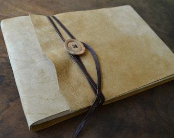 Handmade Bound Leather Artist Sketchbook Notebook Arts Journal Ledger (448B)