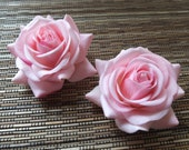 A pair of Pink Roses Hair clips, Wedding Accessories, Wedding Hair Flowers