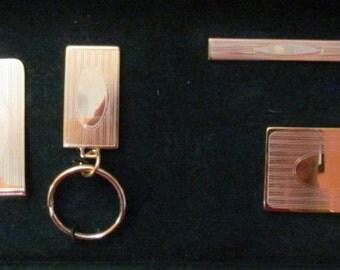 Vintage Complete Men's Set of Accessories (Engravable Surface)