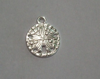 10 pieces Antique Silver Sand Dollar Charms