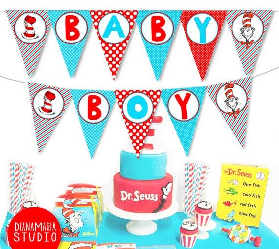 dr seuss boy baby shower banner printable dr seuss