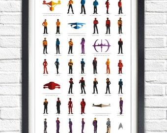 Star Trek - All Series - All crews  - 19x13 Poster