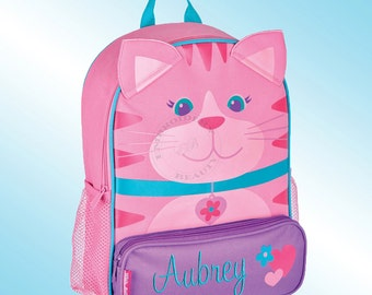 Backpack - Personalized and Embroidered - Sidekick Backpack - CAT