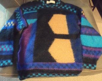 Vintage SIOCHAIN Handloomed Ireland Women's Mohair Sweater Sz Med