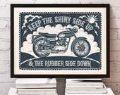 Bikers Motorbike Print