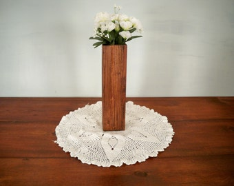 Country Wood Vase Centerpiece, Decorative Wood Center Piece, Wood Centerpiece, Decorative Centerpiece,Table Center Piece, Rustic Wood Box