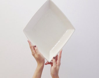 Diamond Serving Dish - Available for Shipment in November