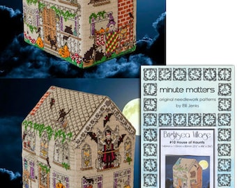 3D BrightSea Village 10 BrightSea Village Haunted House Cross Stitch Pattern