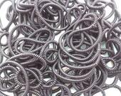 Black telephone line hair ties, plastic hair ties, ponytail holders,--small  size  20pcs