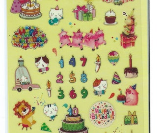Japanese / Korean Stickers- Happy Birthday