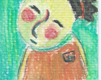 Original ACEO Watercolor Painting- My Little Sister