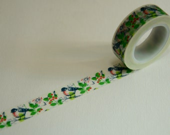 1 Roll of Japanese Washi Tape Roll- Blue Bird