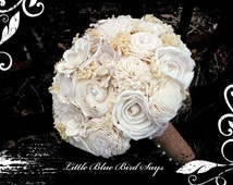 Rustic bridal bouquet Sola bouquet, wedding bouquet, bridal bouquet, sola flower bouquet, keepsake flowers, rustic wedding